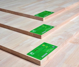 进口橡胶木无节实木板材